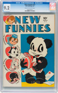 Golden Age (1938-1955):Funny Animal, New Funnies #73 (Dell, 1943) CGC NM- 9.2 Cream to off-whitepages....