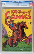 Platinum Age (1897-1937):Miscellaneous, 100 Pages of Comics #101 (Dell, 1937) CGC VF/NM 9.0 Off-white pages....