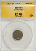 Early Half Dimes, 1800 H10C --Damaged--XF40 ANACS. XF 40 Details. NGC Census:(9/100). PCGS Population (15/111). Mintage: 40,000. Numi...