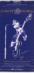 Music Memorabilia:Posters, Concert For George DVD Poster, Signed by Paul McCartney andEric Clapton (Rhino, 2003)....