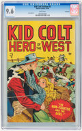 Golden Age (1938-1955):Western, Kid Colt Outlaw #2 Vancouver pedigree (Atlas, 1948) CGC NM+ 9.6White pages....