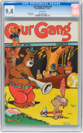Golden Age (1938-1955):Funny Animal, Our Gang Comics #8 (Dell, 1943) CGC NM 9.4 White pages....