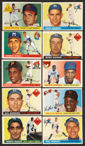 Baseball Cards:Lots, 1955 Topps Baseball Collection (29) with High Numbers and Hall ofFamers! ...