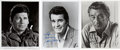 Movie/TV Memorabilia:Autographs and Signed Items, Robert Mitchum, Charles Bronson, and James Garner Signed Photos....(Total: 3 )