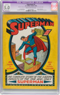 Golden Age (1938-1955):Superhero, Superman #1 (DC, 1939) CGC Apparent VG/FN 5.0 Extensive (P) Cream to off-white pages....