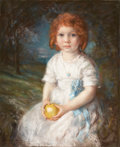 Fine Art - Painting, American:Modern  (1900 1949)  , ALBERT STERNER (American,1863-1946). Olivia, 1903. Pastel oncanvas. 27 x 22 inches (68.6 x 55.9 cm). Signed and dated l...