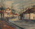 Fine Art - Painting, European:Contemporary   (1950 to present)  , MICHEL-MARIE POULAIN (1906-1991). Le Doubs, 1955. Oil oncanvas. 25-1/2 x 32 inches (64.8 x 81.3 cm). Signed lower left:...