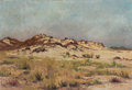 Fine Art - Painting, European:Modern  (1900 1949)  , LEON DELDERENNE (Belgian, 1864-1921). Landscape with SandDunes, c. 1905. Oil on canvas. 17-3/4 x 26 inches (45.1 x66.0...