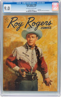 Golden Age (1938-1955):Western, Four Color #160 Roy Rogers (Dell, 1947) CGC VF/NM 9.0 Off-white to white pages....