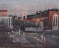 Fine Art - Painting, European:Contemporary   (1950 to present)  , JACQUES BLENY (French, 20th Century). Le Forum au couchant (TheSleeping Forum), 1959. Oil on canvas. 20 x 25 inches (50...