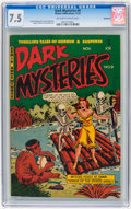 Golden Age (1938-1955):Horror, Dark Mysteries #9 Bethlehem pedigree (Master Publications, 1952)CGC VF- 7.5 Off-white to white pages....