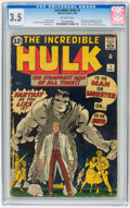 Silver Age (1956-1969):Superhero, The Incredible Hulk #1 (Marvel, 1962) CGC VG- 3.5 Off-whitepages....