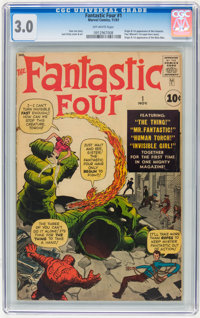 Fantastic Four #1 (Marvel, 1961) CGC GD/VG 3.0 Off-white pages