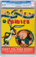 Golden Age (1938-1955):Cartoon Character, Looney Tunes and Merrie Melodies Comics #1 (Dell, 1941) CGC FN 6.0Cream to off-white pages....