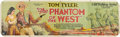 "Entertainment Collectibles:Movie, ""The Phantom of the West"" Serial Film Banner, 1931...."