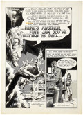 "Original Comic Art:Splash Pages, Bernie Wrightson Unpublished Splash Page ""Here's Another Fine JamYou've Gotten Me Into"" Original Art (1970)...."