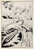 Original Comic Art:Splash Pages, Ramona Fradon History of the DC Universe Aquaman Pin-UpOriginal Art (DC/Graphitti Designs, 1988)....