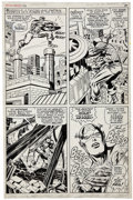 Original Comic Art:Panel Pages, Jack Kirby and Syd Shores Captain America #108 page 7Original Art (Marvel, 1968)....