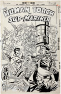 Original Comic Art:Covers, Gil Kane and Frank Giacoia The Invaders #24 Cover OriginalArt (Marvel, 1978)....
