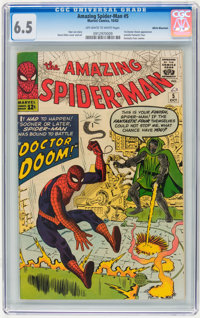 The Amazing Spider-Man #5 White Mountain pedigree (Marvel, 1963) CGC FN+ 6.5 Off-white to white pages