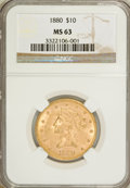 Liberty Eagles, 1880 $10 MS63 NGC....