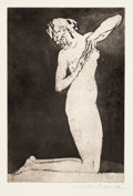 Prints, ARTHUR BOWEN DAVIES (American, 1862-1928). Group of 6 prints (4 lithographs printed by George Miller, and 2 etching/aquati...