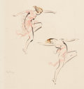 Fine Art - Work on Paper:Drawing, TROY KINNEY (American, 1871-1938). Group of 3 works depictingthe Ballet Russe, 1921 and 1922. chalks and drypoint. Each...