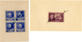Autographs:U.S. Presidents, Franklin D. and Eleanor Roosevelt: Signed Postage Stamps....(Total: 2 Items)