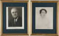 Autographs:U.S. Presidents, Franklin and Eleanor Roosevelt: Photos Inscribed and Signed....(Total: 2 Items)