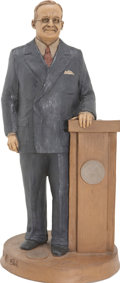 Political:3D & Other Display (1896-present), Harry S Truman Standing Sculpture By Thomas F. Clark....