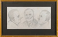 Political:Small Paper (1896-present), Franklin D. Roosevelt: Pencil Sketches for Wood Carving....