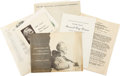 Autographs:Statesmen, Grace Tully, FDR's Personal Secretary, Archive.... (Total: 6 Items)