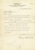 Autographs:U.S. Presidents, Franklin D. Roosevelt: Typed Letter Signed with HolographicNotation....