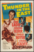 "Movie Posters:Adventure, Thunder in the East (Paramount, 1953). One Sheet (27"" X 41""). Adventure.. ..."