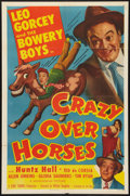 "Movie Posters:Sports, Crazy Over Horses (Monogram, 1951). One Sheet (27"" X 41""). Sports....."