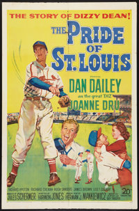 """The Pride of St. Louis (20th Century Fox, 1952). One Sheet (27"""" X 41""""). Sports"""