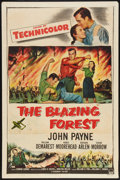 "Movie Posters:Adventure, The Blazing Forest (Paramount, 1952). One Sheet (27"" X 41"").Adventure.. ..."