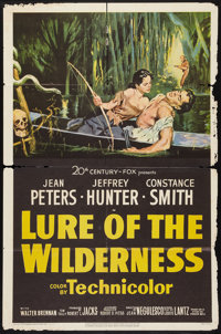 """Lure of the Wilderness (20th Century Fox, 1952). One Sheet (27"""" X 41""""). Adventure"""