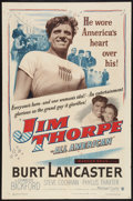 "Movie Posters:Sports, Jim Thorpe - All American (Warner Brothers, 1951). One Sheet (27"" X 41"") and Lobby Card (11"" X 14""). Sports.. ... (Total: 2 Items)"