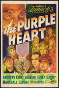 "Movie Posters:War, The Purple Heart (20th Century Fox, 1944). One Sheet (27"" X 41"").War.. ..."