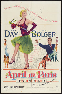 "April in Paris (Warner Brothers, 1952). One Sheet (27"" X 41""). Musical"