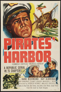 """Haunted Harbor (Republic, R-1951). One Sheet (27"""" X 41""""). Serial. Rereleased as Pirates' Harbor"""