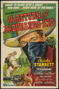 "Movie Posters:Western, The Return of the Durango Kid (Columbia, 1945). One Sheet (27"" X 41""). Western.. ..."