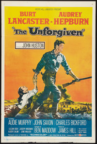 """The Unforgiven (United Artists, 1960). One Sheet (27"""" X 41""""). Western"""