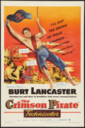 "Movie Posters:Adventure, The Crimson Pirate (Warner Brothers, 1952). One Sheet (27"" X 41"").Adventure.. ..."