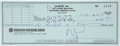 Music Memorabilia:Autographs and Signed Items, Frank Zappa Signed Check.... (Total: 2 )