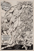 Original Comic Art:Splash Pages, Dick Ayers and Tony DeZuniga All-New Adventures of the MightyCrusaders #3 Shield Splash Page Original Art (Archie...