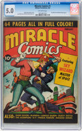 Golden Age (1938-1955):Superhero, Miracle Comics #1 (Hillman Publications, 1940) CGC VG/FN 5.0 Off-white pages....
