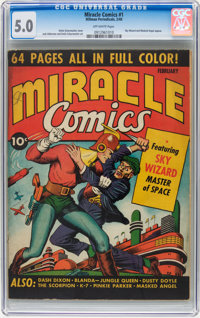 Miracle Comics #1 (Hillman Publications, 1940) CGC VG/FN 5.0 Off-white pages