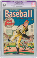Golden Age (1938-1955):Miscellaneous, Baseball Comics #1 (Will Eisner, 1949) CGC Apparent VF+ 8.5 Slight (P) White pages....